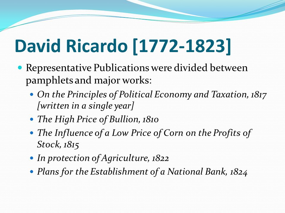 """essay on profits ricardo In his essay on malthus, keynes called ricardo """"the abstract and a priori   böhm-bawerk (1913) dubbed schumpeter's explanation of profits."""